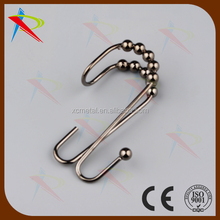 12pcs Bathroom Shower Rod Curtain Ring Hooks Hangers Double Glide