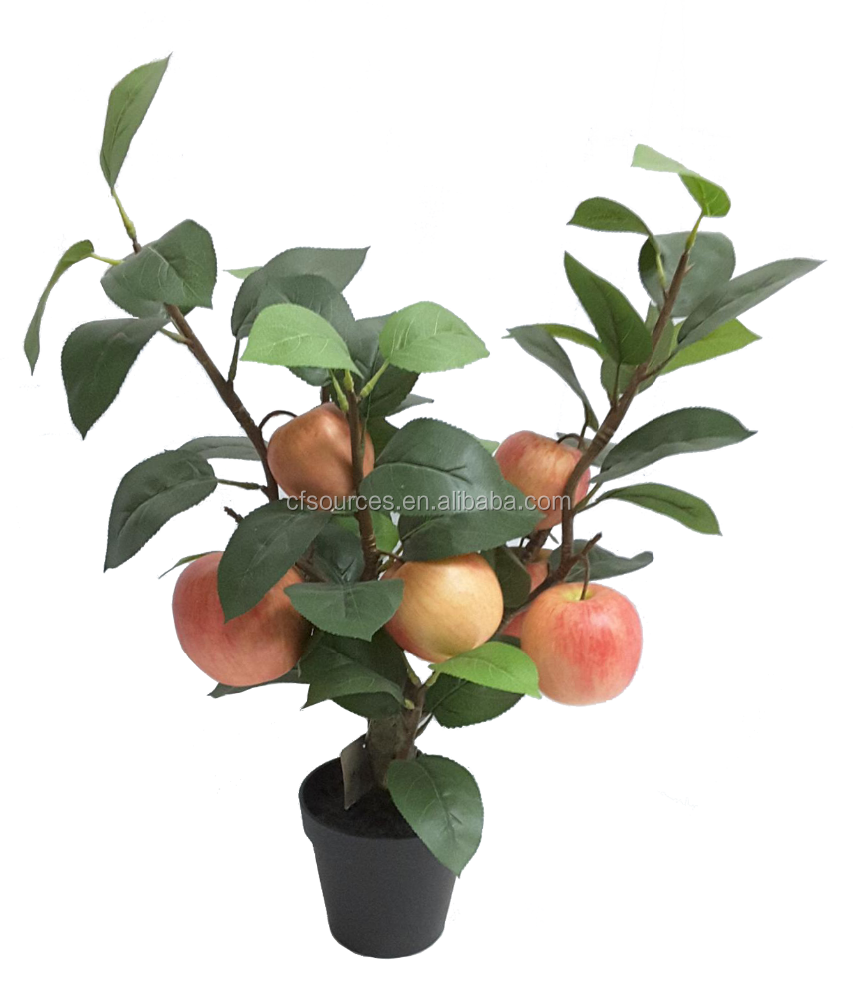 2018 High Simulation artificial bonsai fruit tree Ornamental Plants