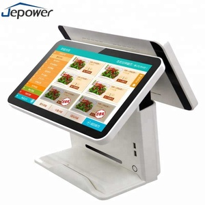 15.6 inch Quad core CPU all in one android lcd monitor rfid payment system dual touch screen pos
