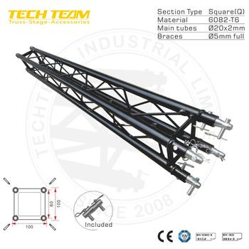 Black lighting decoration spigot truss , Black Box Truss