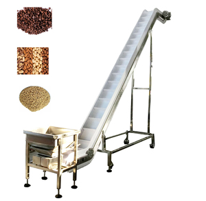Food grade inclined belt conveyor machine with hopper price