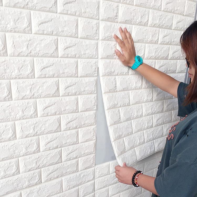 3d Solid Wall Stickers Waterproof Anti-collision Vinyl Brick Wall Sticker Self-adhesive Wallpaper 3d