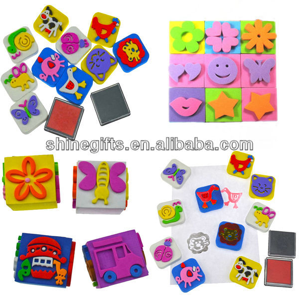 Colourful EVA children stamp set