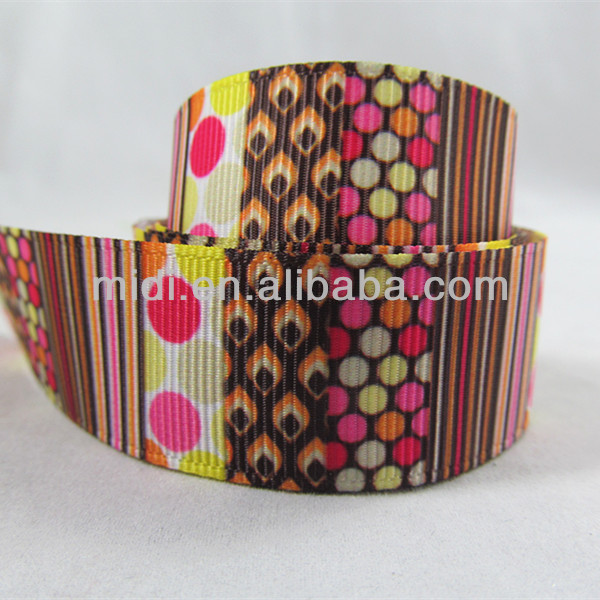 wholesale 22mm colorful stripe with dot ribbon