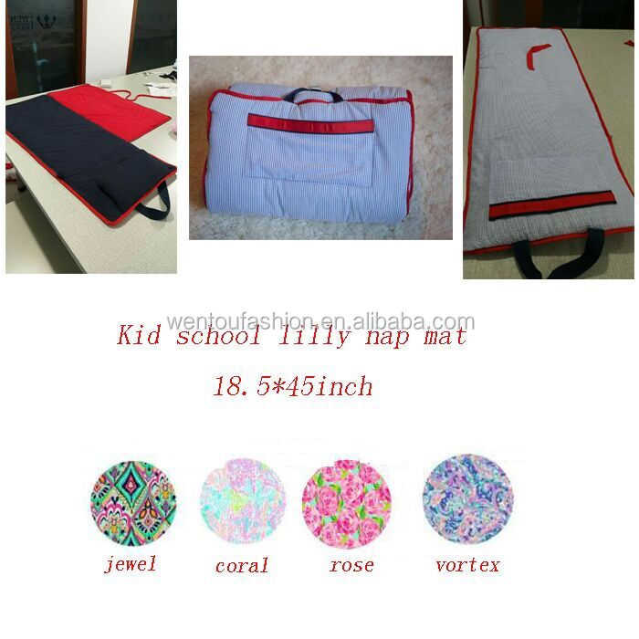 Monogrammed Kids School Lilly Seersucker Nap Mat