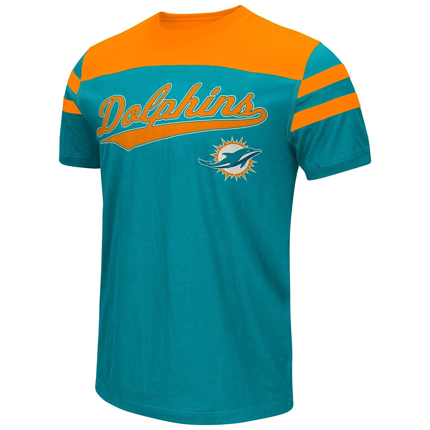 Buy Miami Dolphins Mens Throwback Jersey Style Fashion T shirt in  hot sale