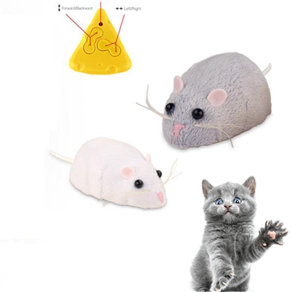 ELETTRICO TELECOMANDATO GIOCO MOUSE caccia topi giocattolo per gatti funzionamento a batteria