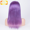 9A Grade Ombre Human Hair Wig Light Purple with Dark Root Brazilian Virgin Hair Lace Front Wig