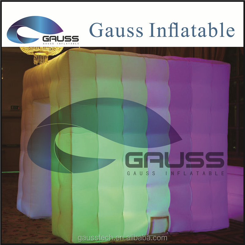 Inflatable photo booth with LED light