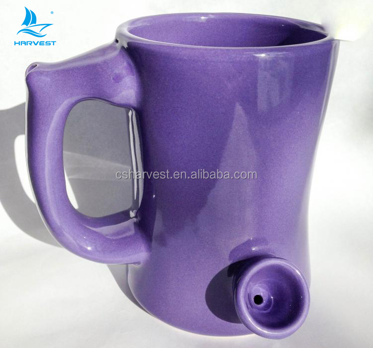 Pipe cup built in smoke pipe mug with your logo