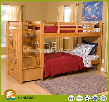 Dormitorio De Alta Calidad De Madera Maciza Rústica Cama Litera Con