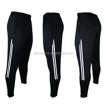 e30138b5179e Men Soccer Pants Wholesale Uniforms Pants Sports Trousers Custom Football Training  Pants Black white