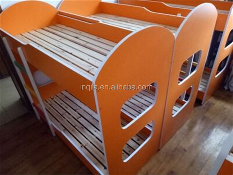 Modern design wooden kids bunk bed