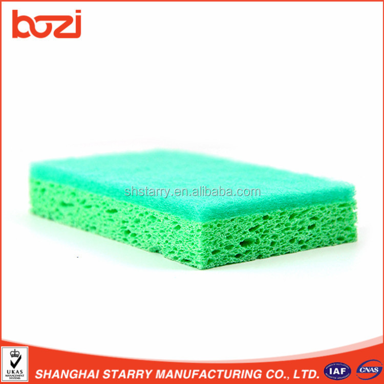 Kitchen Helper Cellulose Sponge With Souring Pad