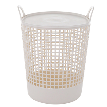 Bathroom plastic basket for laundry