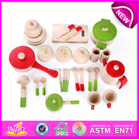 2016 fashion wooden kitchen toy accessories for kids, newest kids wooden kitchen toy accessories W10B093