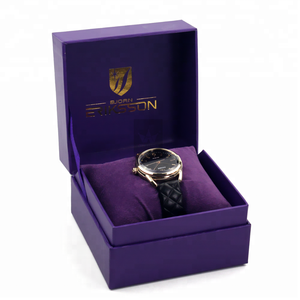 Personalized Luxury Cardboard Watch Box With Gold Foil Logo
