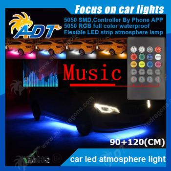 Multi Coloured Onder Auto Led Verlichting Kit Flexibele Strips ...