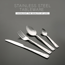 Royal stainless steel cutlery set spoons forks knives
