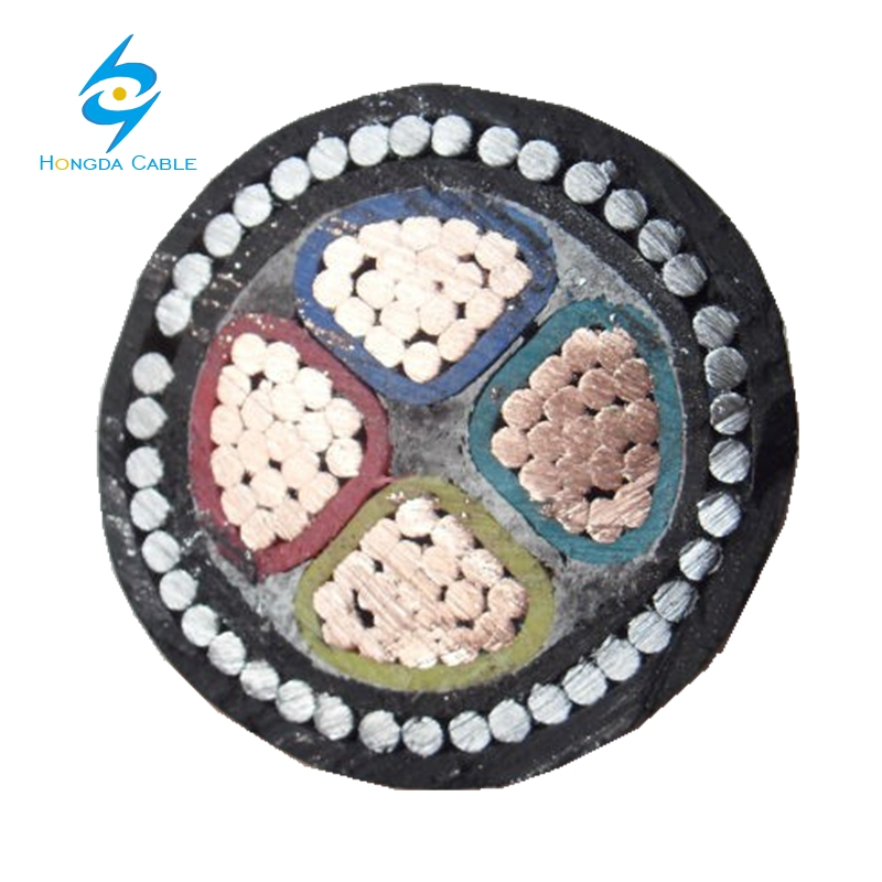 Low voltage 16mm 25mm 35mm 50mm 95mm 120mm 240mm Cu / Al xlpe insulation 4 core armoured cable specifications