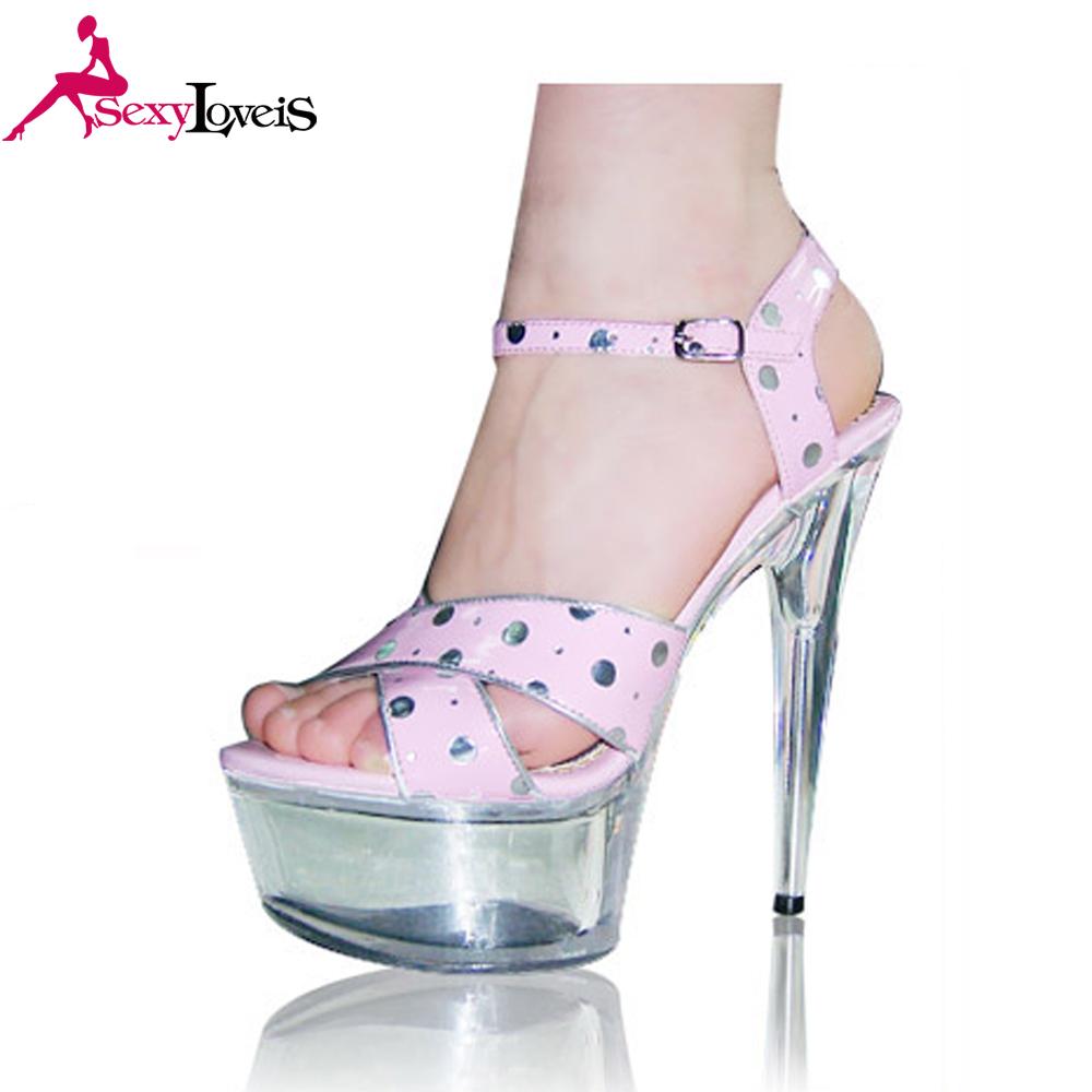 15 Alto Transparente De Tacón Sandalias Zapatos Zapato Cm Coreano rWodxBeQC