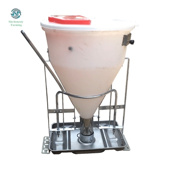 Pig Farm Equipment New Designed Auto PVC Adjustable Dry Wet Feeders for Pigs Weaning