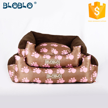 dog feet digital fake mink printing cheap pet bed for dogs