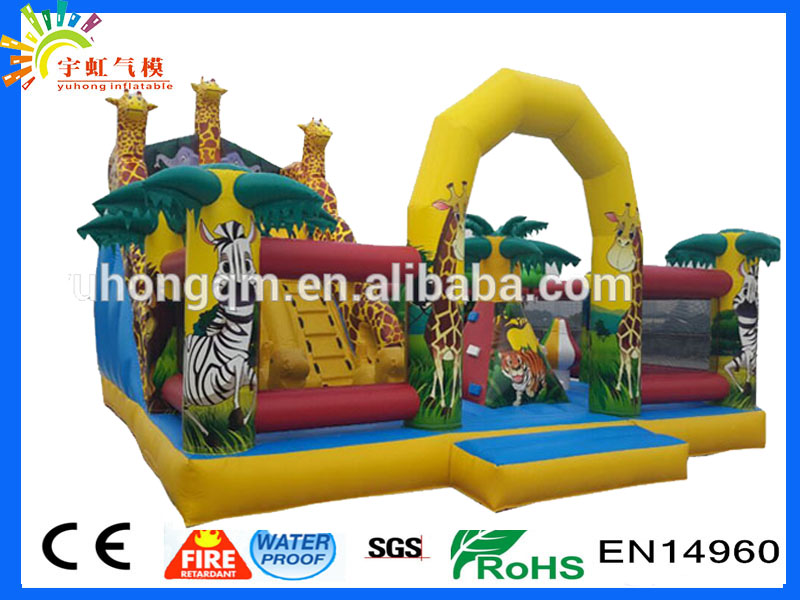 Guangzhou factory giraffe tiger animal safari party inflatable fun city amusement inflatable