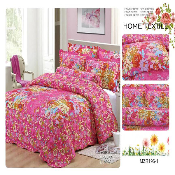 2017 Custom 100% cotton patchwork quilt for adults wholesale price bedsheet