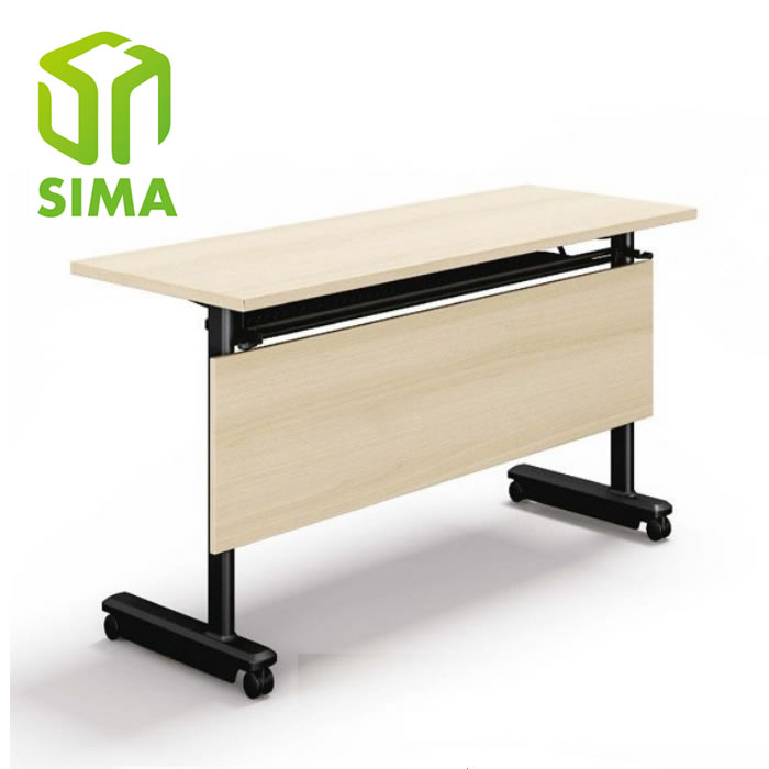 cheap black metal movable folding training desk for sale
