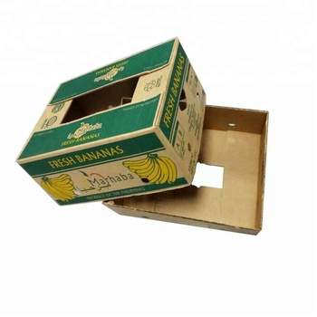 Double wall custom printing Strong Paper Banana Carton Banana shipping packing Box