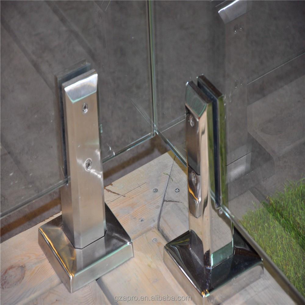 Style moderne populaire aluminium garde corps en verre for Balustrade aluminium exterieur