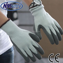 NMSAFETY winter style latex coated acrylic magic stretch gloves