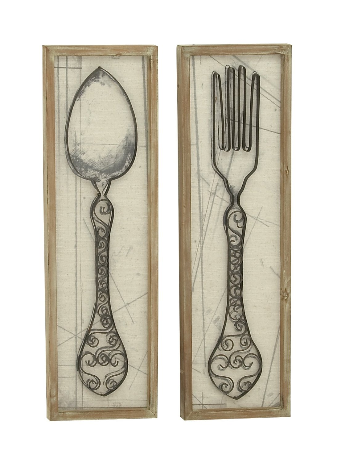 Get Quotations Spoon Fork Wood Metal Wall Decor 2 Orted 12 W 36 H