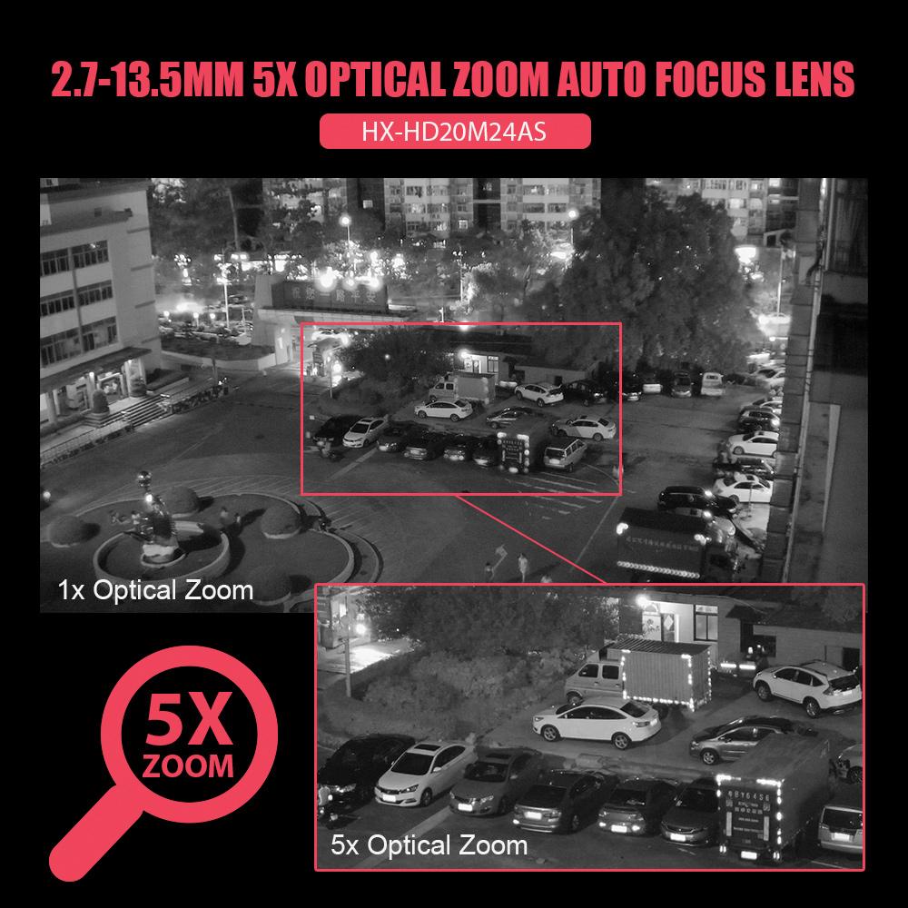 5X Zoom Mini 2.5 Inch WIFI PTZ IP Camera 1080P Outdoor Speed Dome Camera Full Color Night Vision Wireless PTZ Camera