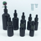 10ml 30ml 50ml Black coloured glass dropper essential oil bottle