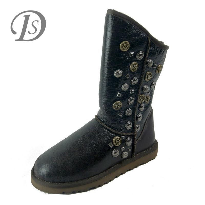 2015 Duolee Australia Decorative Black Metal Boots For Wholesale ...