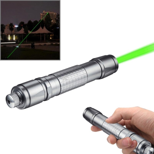 2016 New Arrival 1mw 532nm Green Beam Flashlight Laser Pointer with 1 x Stars head & 1 x laser Sword Fittings(Silver)
