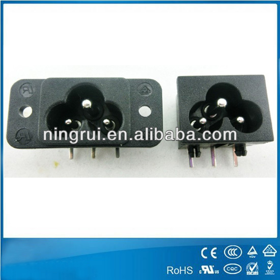 3 Pin Ac Inlet Panel Mount Socket 250v