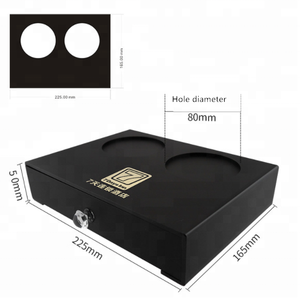 Customized black hotel acrylic storage box can revised to model with lock
