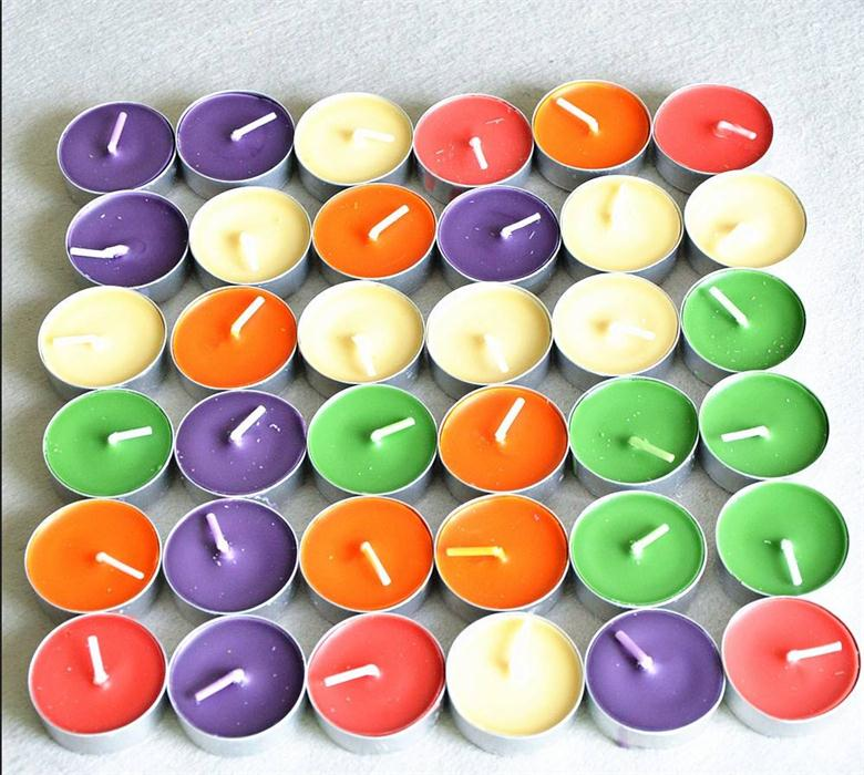 Factory Supplied 10 pcs Gift Box  Eco-friendly Smokeless Colorful Scented Tealight Candle On Sale