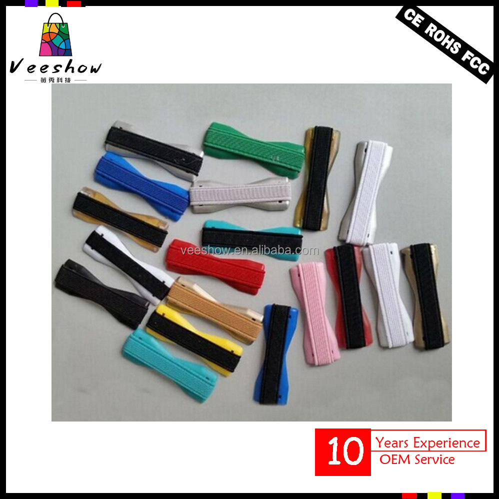 Colorful finger Grip Elastic Band Strap Universal Phone Holder for Mobile Phones Tablets Anti slip