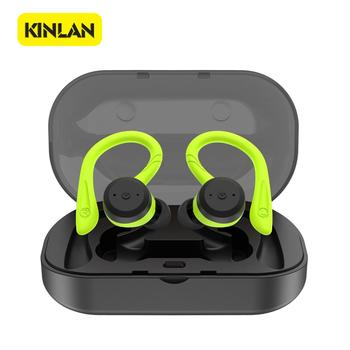 Wholesale TWS  Black/Green Color 2 Pairs Waterproof/Dustproof Bluetooth Earbuds With Gift Box Package Bluetooth 5.0