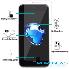 hot new products Classical 2.5D round edge 4.7 inch for Iphone 7 tempered glass protective film