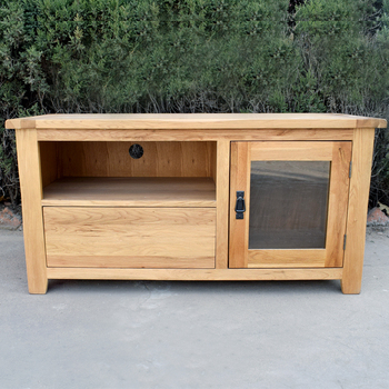 Solid Oak Furniture Natural Color Wood TV Stand TV Cabinet