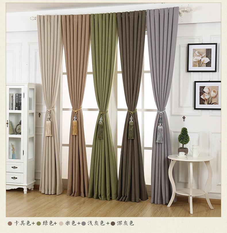 linen curtains for bedroom modern minimalist blackout curtains for living room rideaux pour le. Black Bedroom Furniture Sets. Home Design Ideas