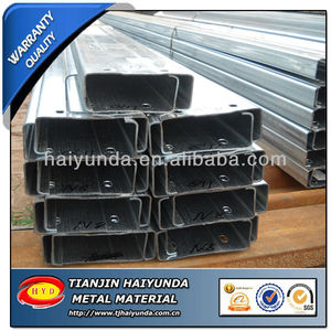 Galvanized Cold Rolled Slotted Strut Channel/U Channel / Unistrut C channel