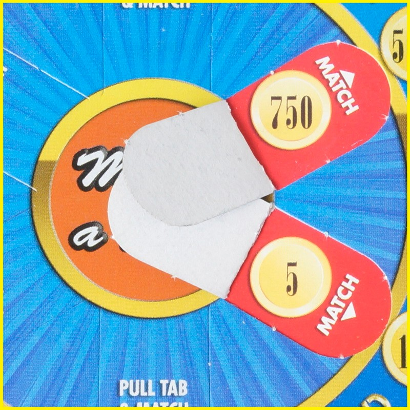 HOT SALE lottery paper scratch off voucher card, pull tag card printing