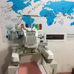 Canton Fair promotional low priced Brother PR-600 Used Single Head Six Needles Industrial Embroidery Sewing Machine