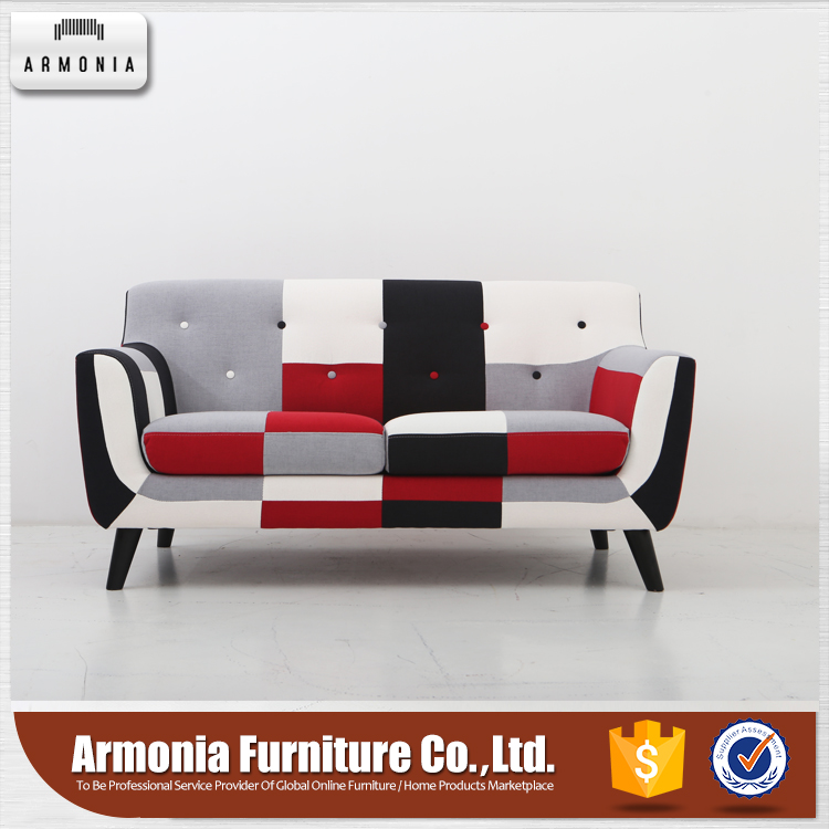 New design wooden fabric modern u shaped sofas